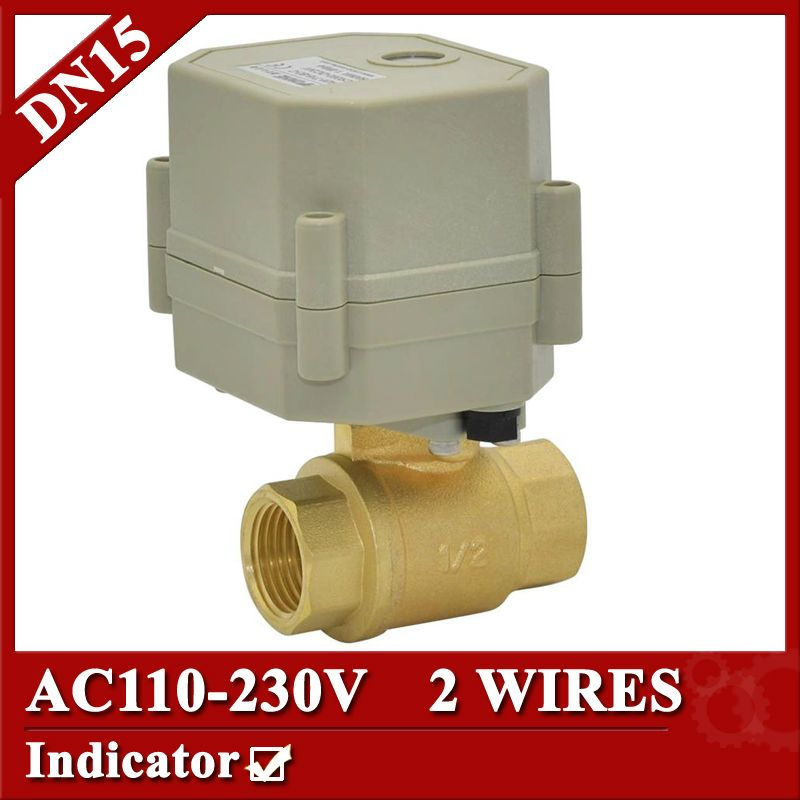 1 2 Brass Automatic Control Valve Dn15 Electric Valve Ac110v 230v Mini Motorized Valve Normal Open Closed Type Electric Motor Control Valves Electricity