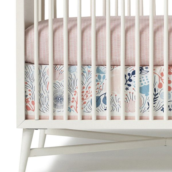 Fan Fave Meadow Crib Skirt And Matchstick Sheet Sweet And