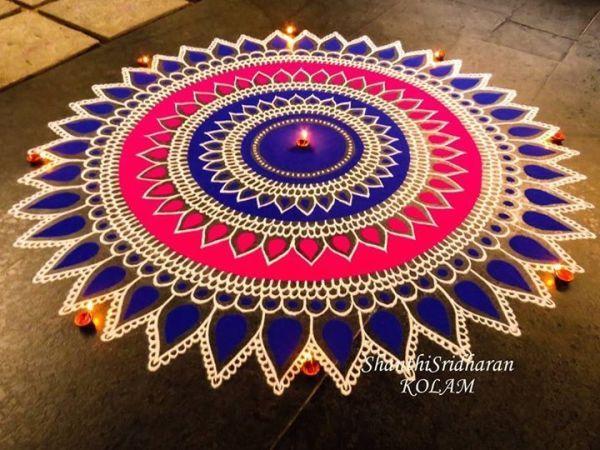 Indian Rangoli Designs for Diwali (18 Beautiful Ones) - TCT