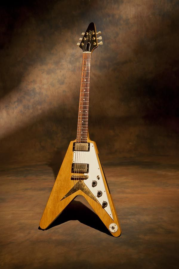 """1983 Adam Ant Flying V - """"The Adam Ant Flying V! Built in 1983. This is a guitar I bought in London when I was there playing a show with Jack Bruce last year. Its from a shop called Vintage and Rare."""