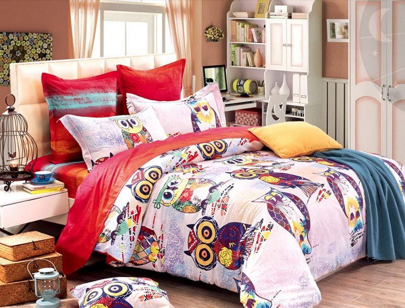 Owl duvet cover set owl bedding set detalles para el for Detalles para el hogar