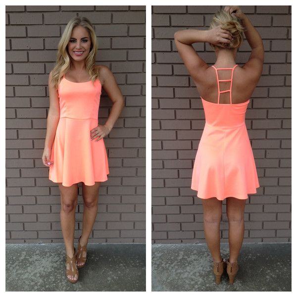 Neon Coral Ladder Back Dress | Clothes | Pinterest | Coral ...