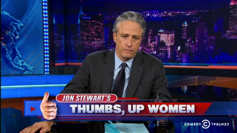 Jon Stewart Painfully Embraces the Official Feminization of America