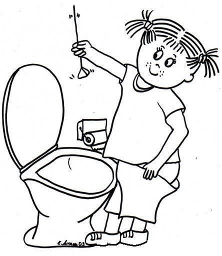 Okul Oncesi Tuvalet Egitimi Boyama Sayfalari Boyama Sayfalari