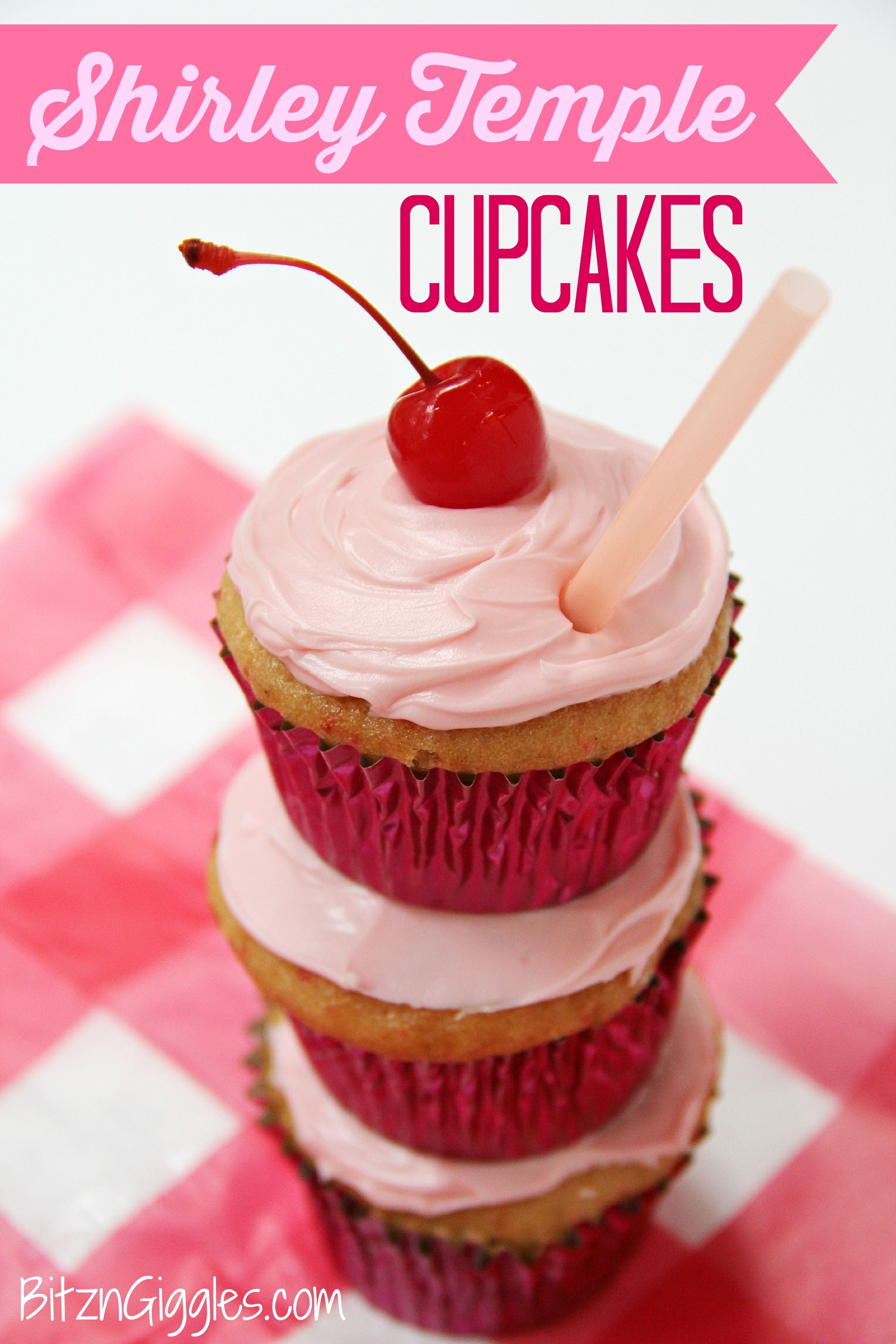 Cherry Chip Cupcakes Filled With A Marshmallow Fluff Topped With