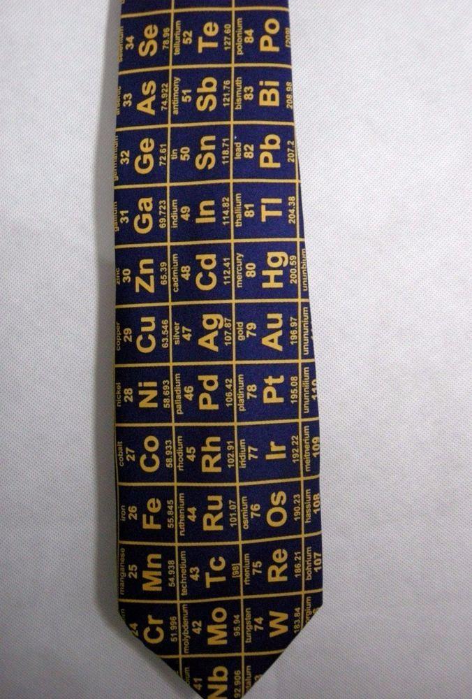 Elements chemistry science necktie tie navy blue teacher chemist elements chemistry science necktie tie navy blue teacher chemist periodic table urtaz Gallery
