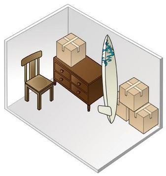Merveilleux 5 X 10 Storage Unit Size GREENWOOD HEATED SELF STORAGE | SEATTLE | STORAGE  SIZE COMPARISON