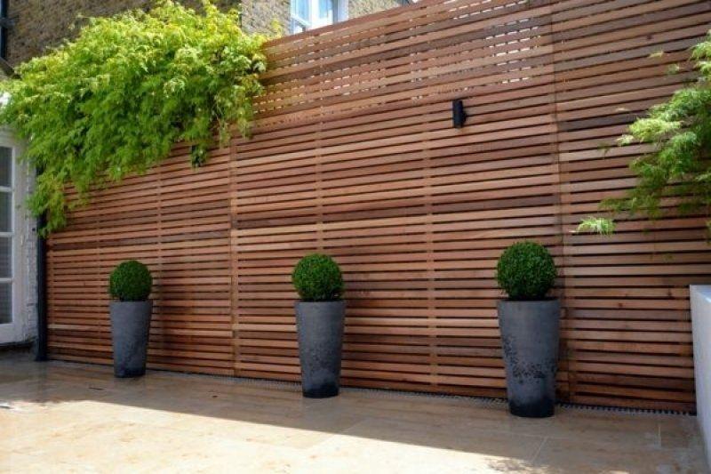 Holzzaun Oder Sichtschutz Aus Holz Im Garten Bauen Sichtschutz