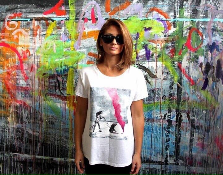 PAINT AND DRAW YOUR NIGHT #camiseta #moda #fashion #pink #night #party #end #gril #bear #colours #shooting #sevilla
