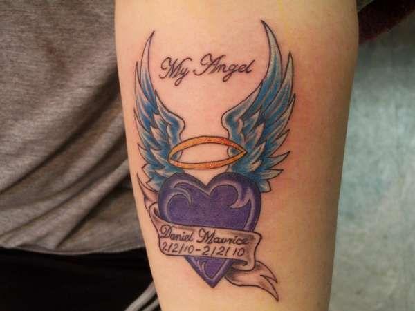 In Memory Of Tattoos In Memory Of My Angel Tattoo Memorial Tattoos Tattoos Swing Tattoo