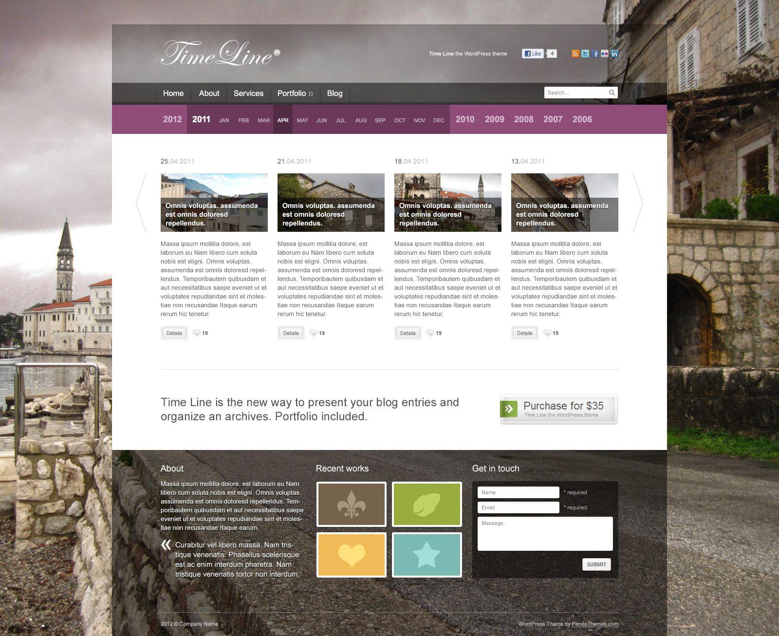 Wedding Responsive Single Page WordPress Theme Wordpress Timeline - Timeline website template