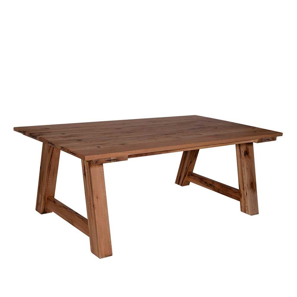 Esszimmertisch Aus Eiche Massiv Landhaus Rustikal Holztisch ,massivholztisch,küchentisch,esszimmertisch,holztisch Massiv