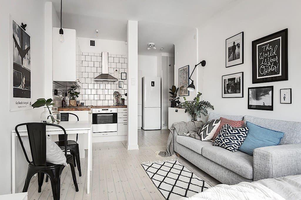 1 Room Studio Apartment Design, Furniture For 1 Bedroom Apartment