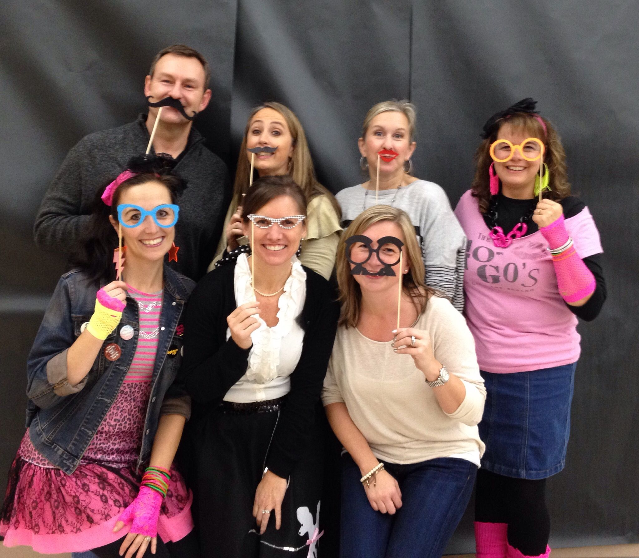 Decade Dance 2013-  Music, games, photo booth, and food!  The SHPTA board, Principal Lederman, and Mrs. Kleinkopf (Dean of Students) got their decade on!