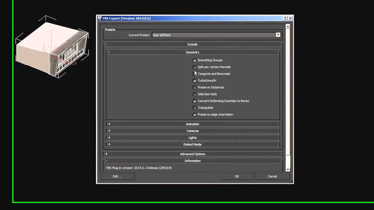 3ds Max to Unreal Engine 4 Settings: Exporting FBX Files For