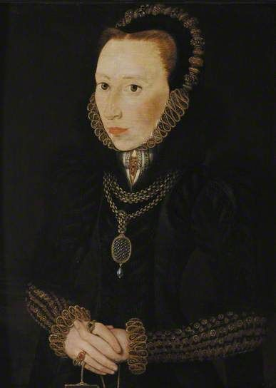 Portrait of a Lady  by Hans Eworth    Date painted: mid 16th C–late 16th C  Oil on panel, 34.9 x 25.4 cm  Collection: Oxford College Anon II, University of Oxford