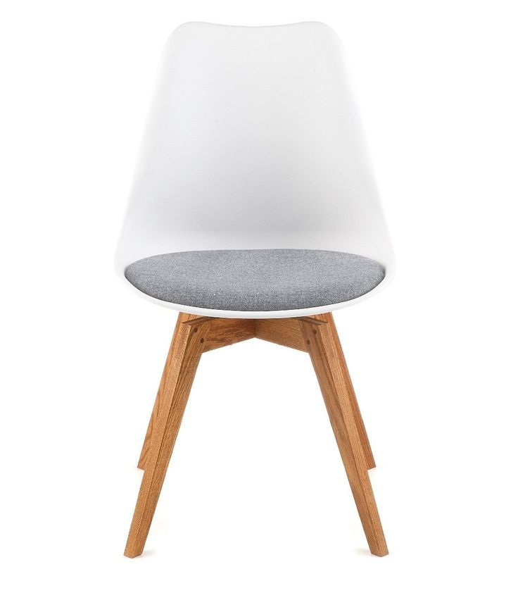designbotschaft Davos Stuhl Weiß\/Grau\/ Eiche - Esszimmerstühle 1 - kche eiche