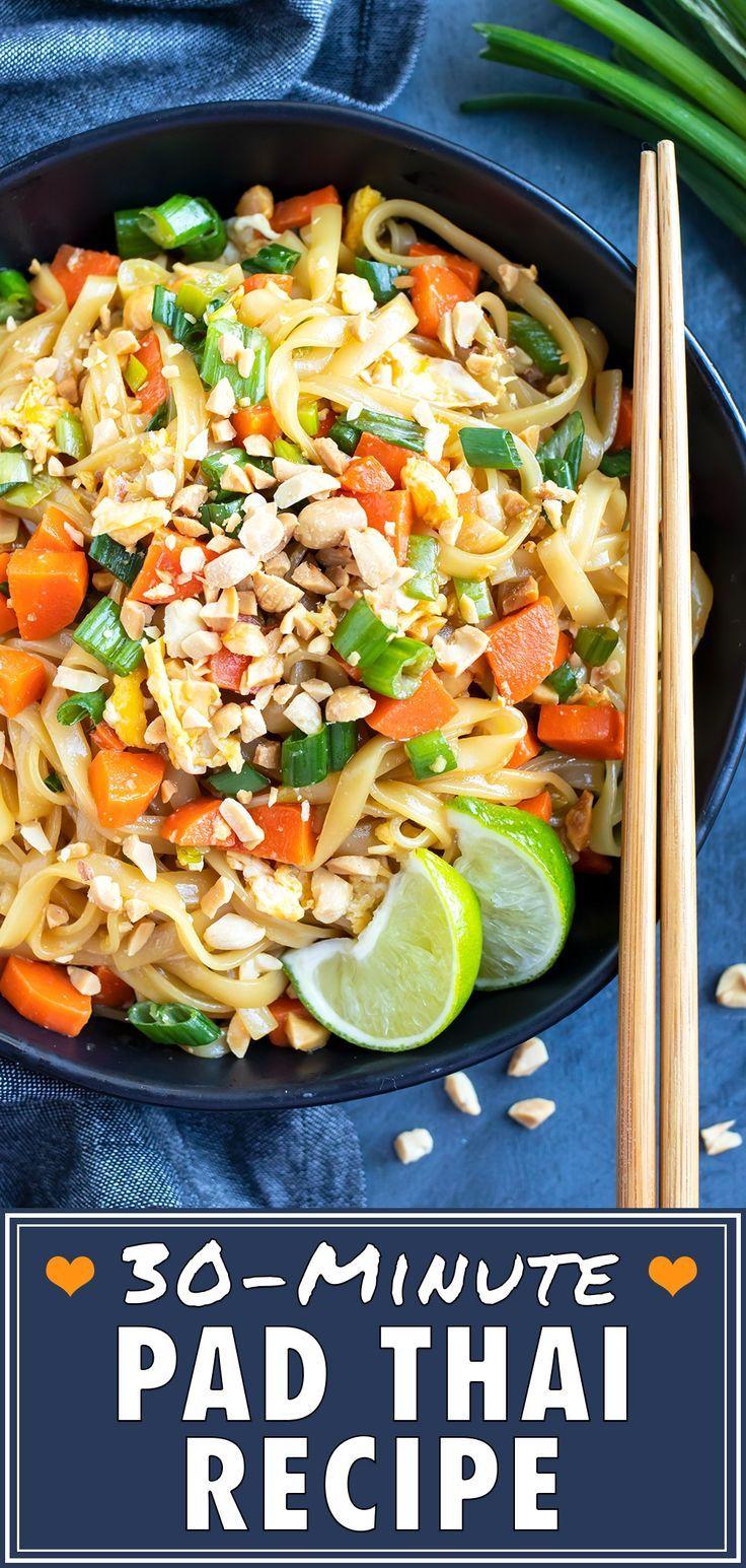 Easy pad thai recipe quick vegetarian meals food