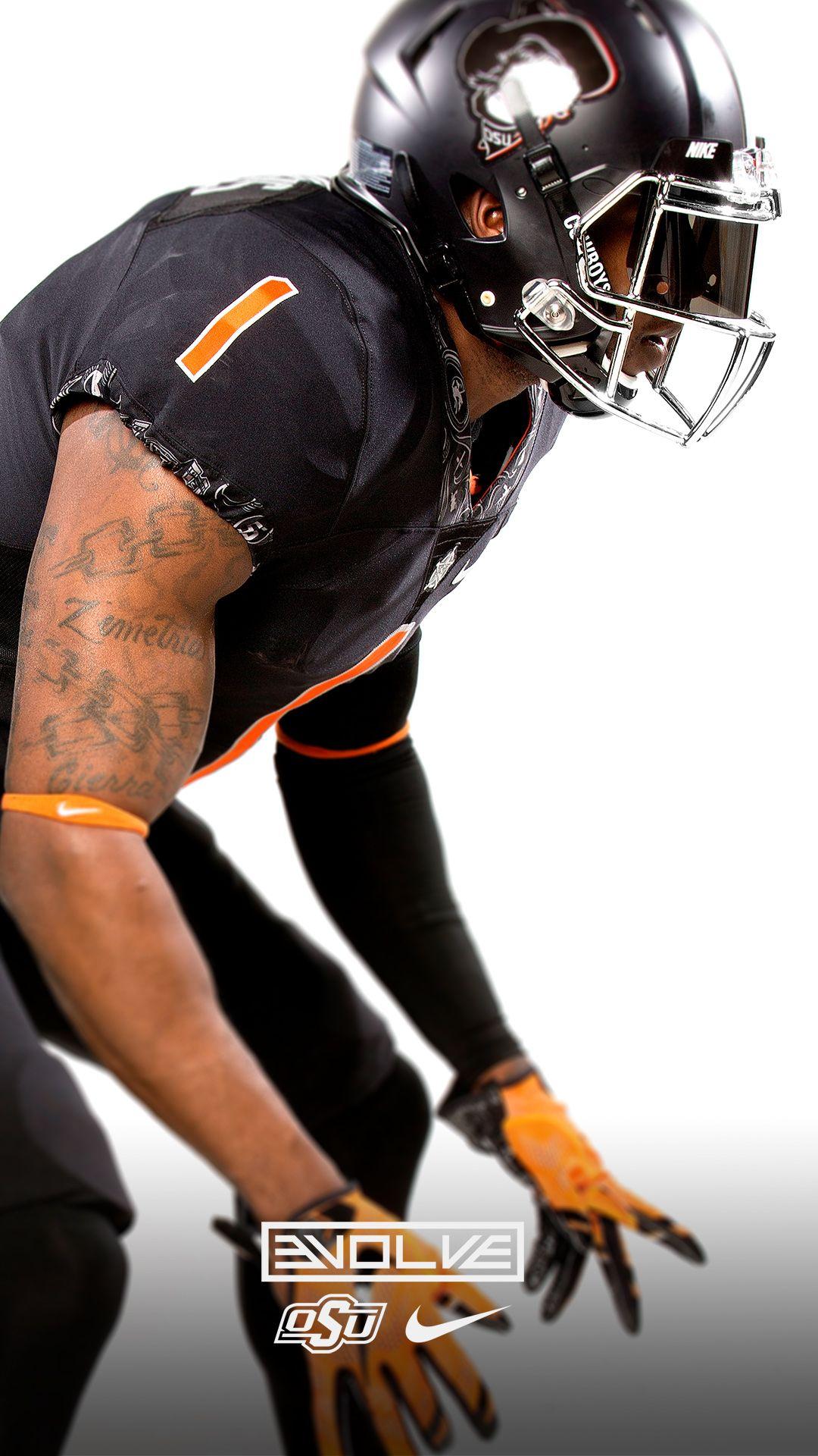 2016 Oklahoma State University Cowboys Football Uniforms All Black College Football Helmets Football Defense Oregon Ducks