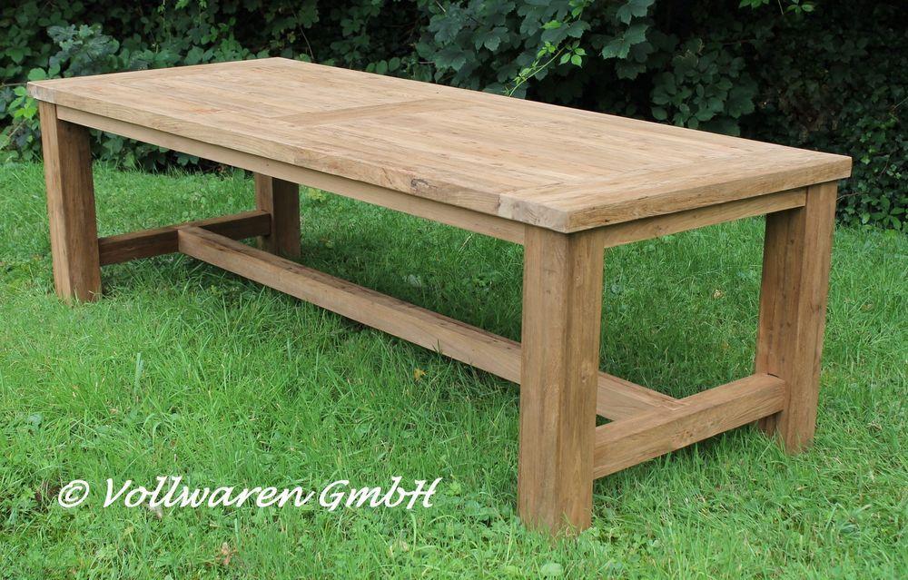 New Details zu TEAK GARTENTISCH TYRION x Teakholz antik massiv Tisch Tafel Gartenm bel