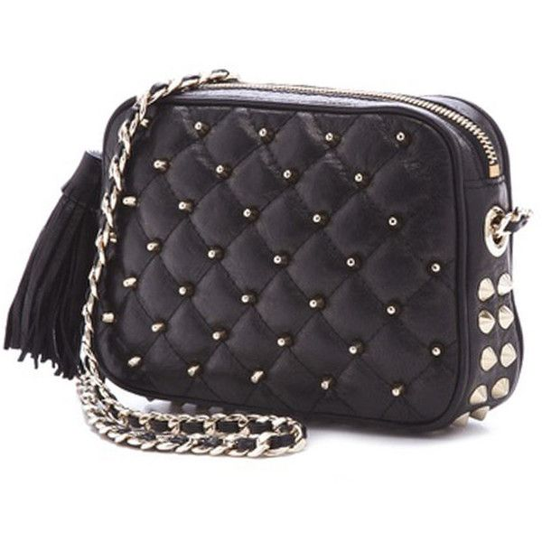 Rebecca Minkoff Studded FLIRTY Bag in Black Quilt ($209) ❤ liked on Polyvore