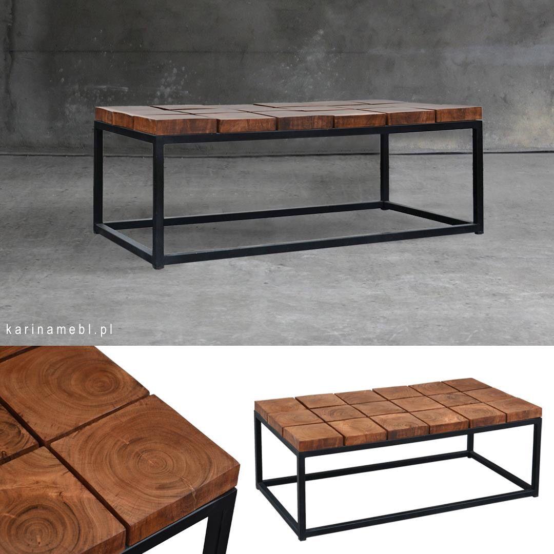 Stolik Organic Loft Drewno Metal Stolik Kawowy ława W