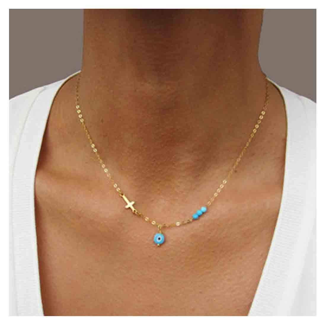 13++ Turquoise and gold necklace jewelry info
