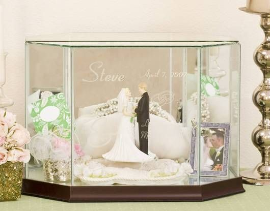 Personalized Octagon Glass Card Boxes