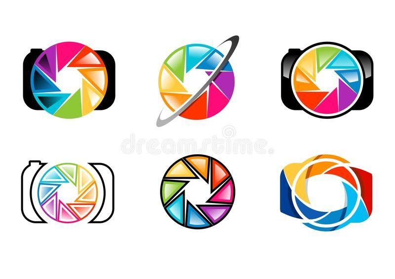 Camera Logo Lens Aperture Shutters Rainbow Colorize Set Of Photography Lo Spon Shutters R Photography Logos Aperture Logo Photography Logo Design