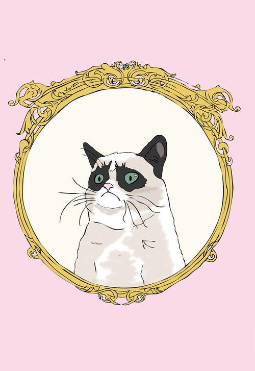 pretty pink Grumpy Cat graphic GrumpyCat FanArt (With