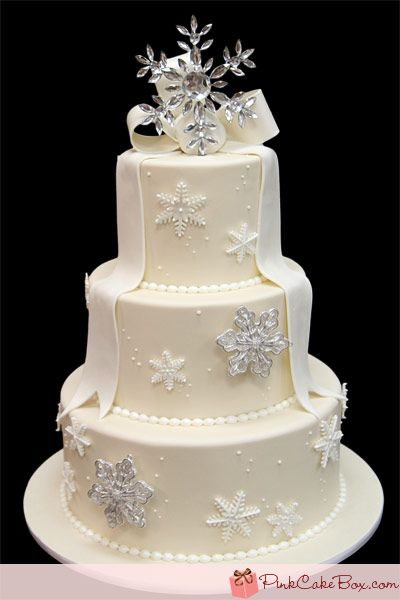 30th Anniversary Snowflake Cake Celebration Cakes Christmas