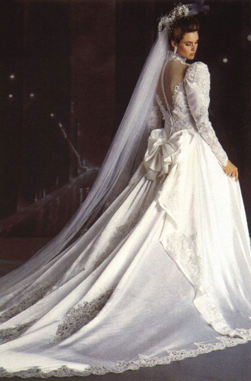 Carol Alt, mid 80s | 80s and 90s wedding dresses | Pinterest | Carol ...