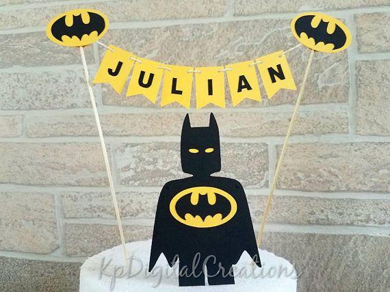 Astounding Batman Cake Topper Superhero Birthday Batman Decorations Batman Personalised Birthday Cards Paralily Jamesorg