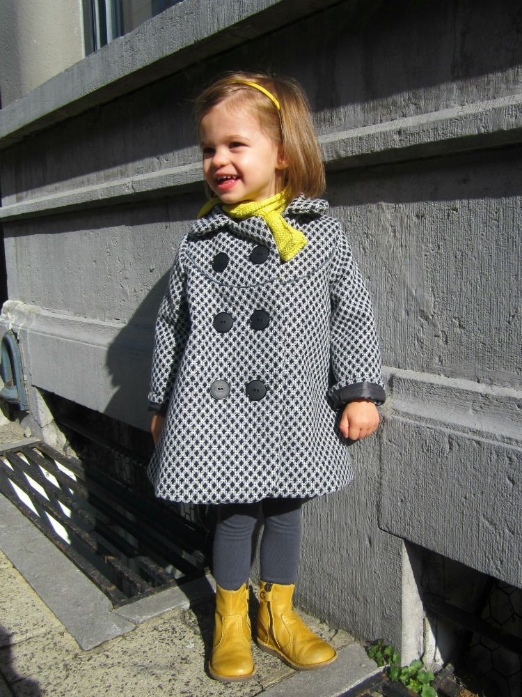 Double Ted Coat, Winter Coat Sewing Pattern Baby