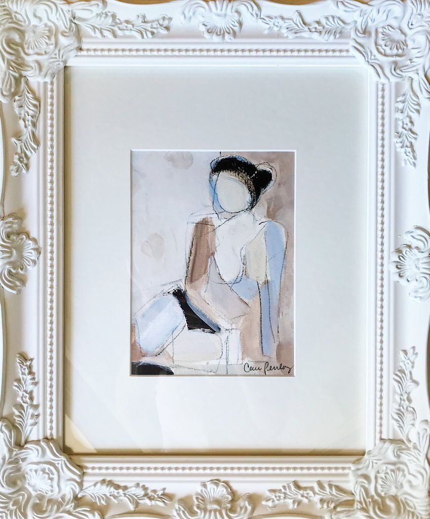 CHARLOTTE- CARRIE PENLEY 18 X 15 (8 X 6) ACRYLIC ON PAPER, FRAMED IN ...