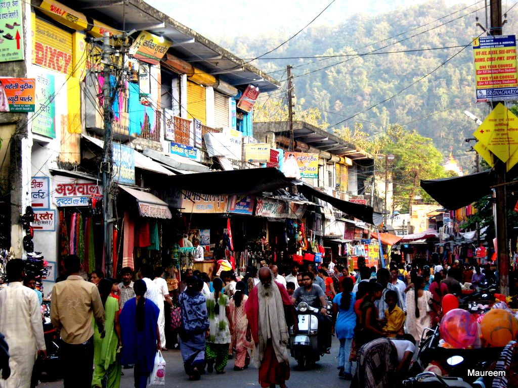 Busy Market Rishikesh City Rishikesh Rishikesh India Travel Blog