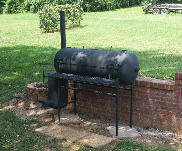 60 Gallon Air Tank Reverse Flow Smoker Build Air Tanks Diy Smoker Offset Smoker