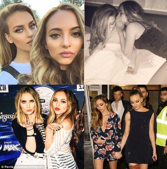 'I'd appreciate if you didn't scare the cute guys off': Flirty Perrie Edwards looked forward to a night on the pull with birthday girl Jade Thirlwall by sharing this sweet Instagram collage on Saturday