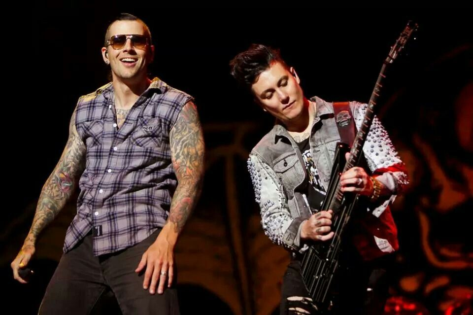 Matt Sanders avenged sevenfold rock in Roma 2014M Shadows And Synyster Gates