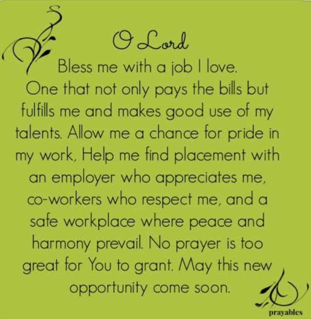 Pin by Juanita on Daily prayer in 2020 Prayer for a job
