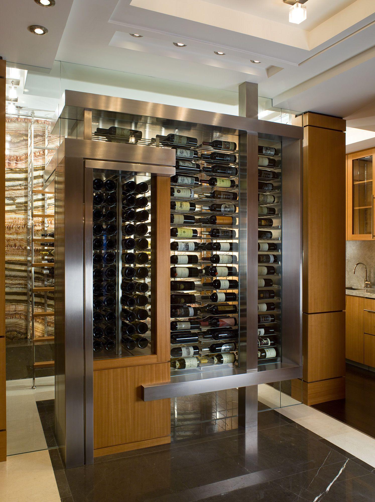 Four Seasons Miami-Residence Wine Storage Room #Opustone #naturalstone #stone #interior & Four Seasons Miami-Residence Wine Storage Room #Opustone ...