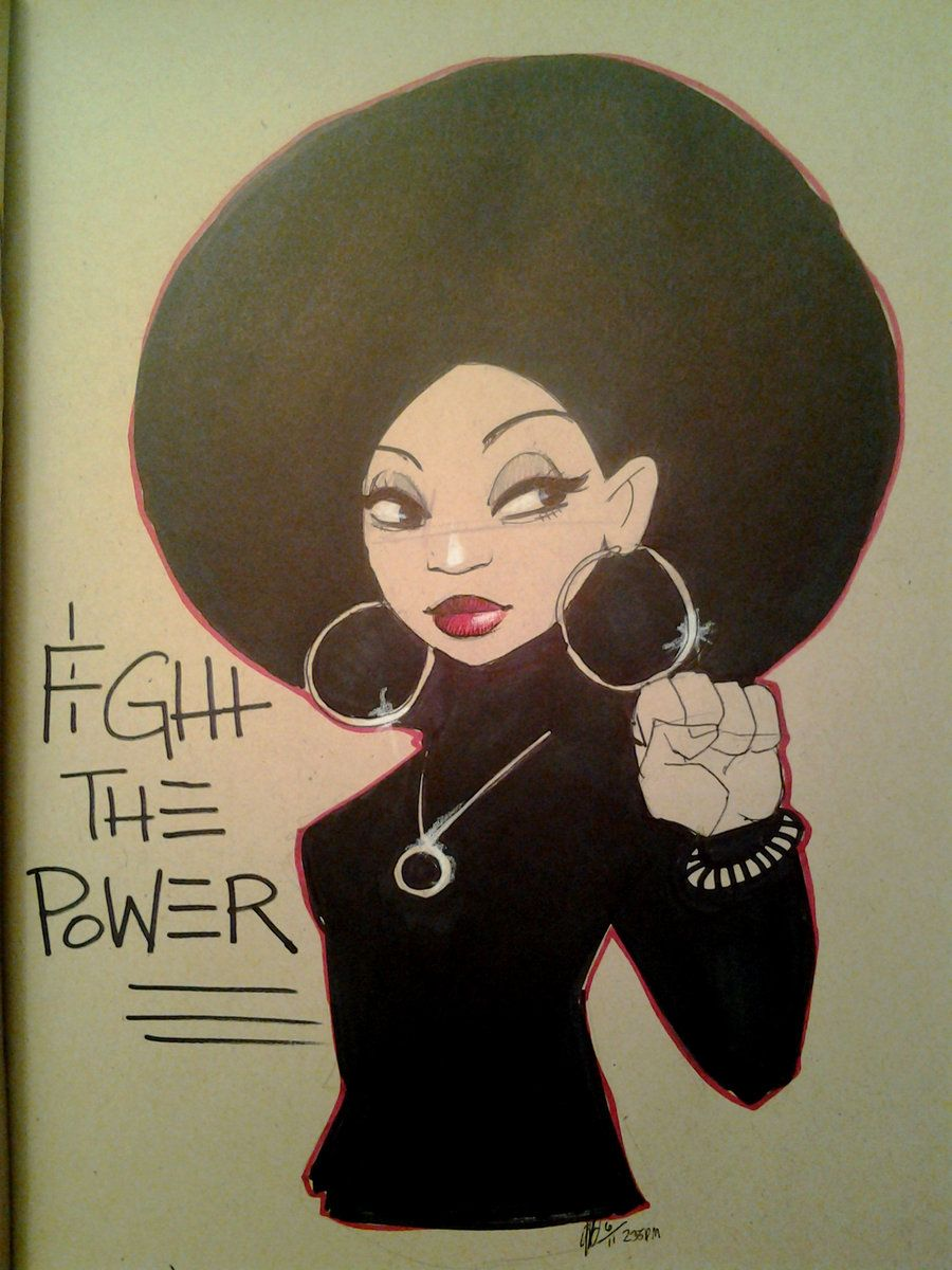 Fight the Power My Black is Beautiful afro. ladies natural