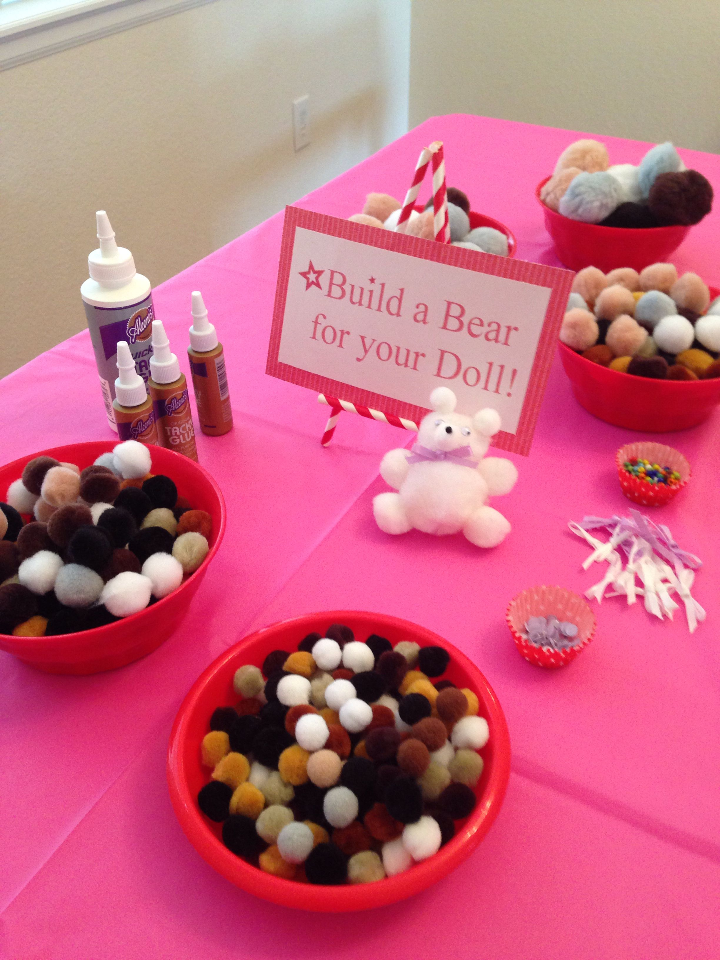 American girl doll party craft station american girl
