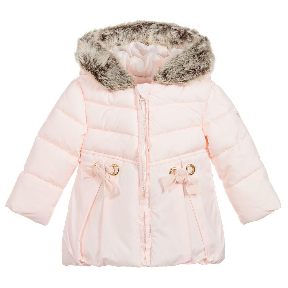 731dfbce0 Baby Girls Pink Bow Coat