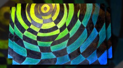 Op Art Analogous Colors Or Any Color Scheme With Weaving Would