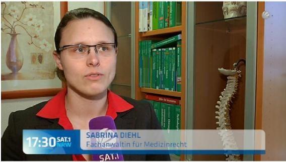 Sat-1 NRW vom 27.02.2015 Nach dem Zahnarzt war der Kiefer gebrochen Sabrina Diehl Fachanwltin fr Medizinrecht Marl Oberhausen