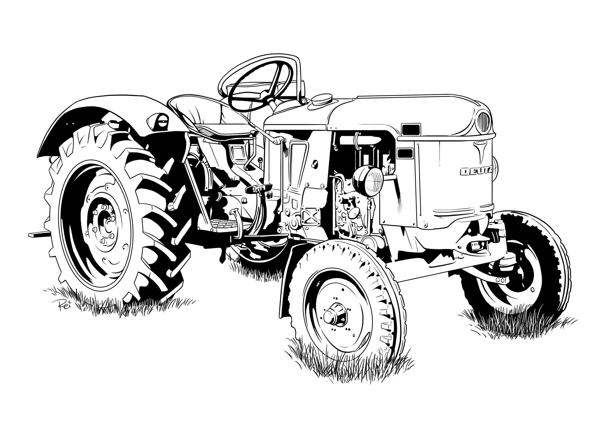 Traktor Tractor Coloring Pages Colorful Pictures Tractors