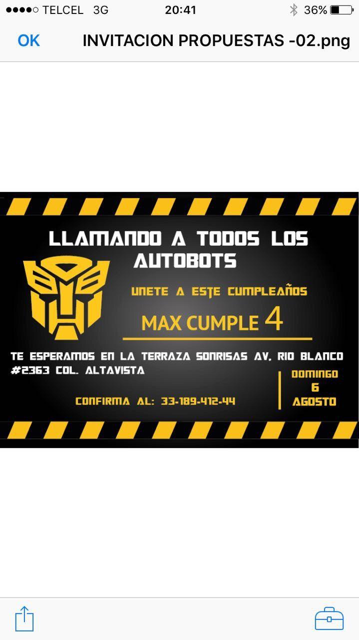 Resultado De Imagen Para Cumpleaños Transformer Fiesta
