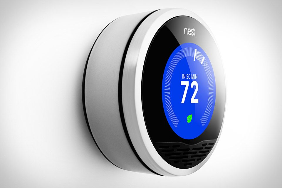 Nest Learning Thermostat This Gorgeous Intelligent Gadget Learns From Your Habits Programming Itself In About A Week And Using Its Nest Thermostat Nest Smart Home