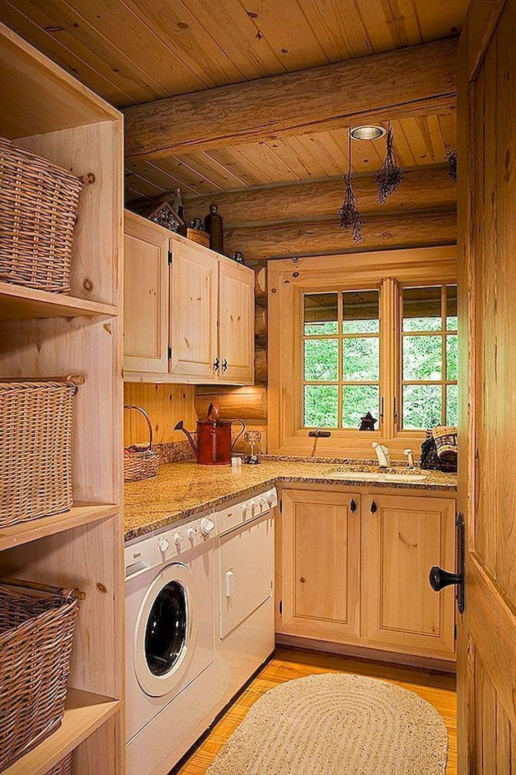 Amazing Farmhouse Laundry Room Decor Ideas 17 | Rustic ... on Amazing Laundry Rooms  id=24555